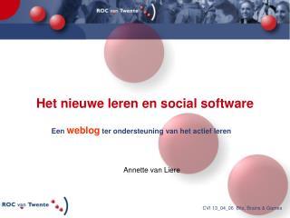 Het nieuwe leren en social software