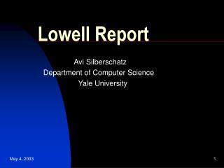 Lowell Report