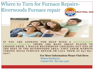 Where to Turn for Furnace Repairs- Riverwoods Furnace repair