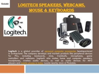 Shop Logitech portable electronics with Findable in India