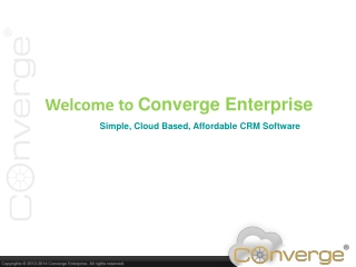 Converge Enterprise - Cloud CRM Software