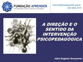 A DIRE  O E O SENTIDO DA INTERVEN  O PSICOPEDAG GICA