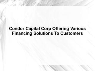 Condor Capital Corp.