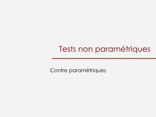 Tests non param triques