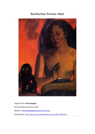 Barbarian Poems 1896--Artisoo