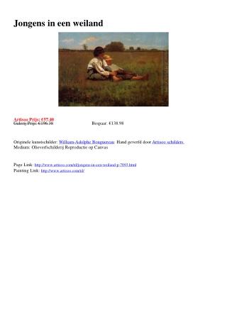 Jongens in een weiland - Artisoo.com