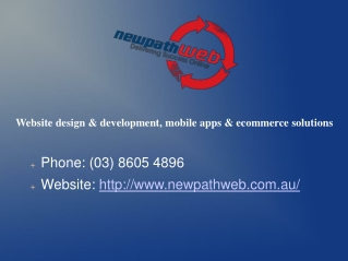Mobile Applications Development