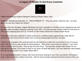 A Legacy Of Quality To Suit Every Customer