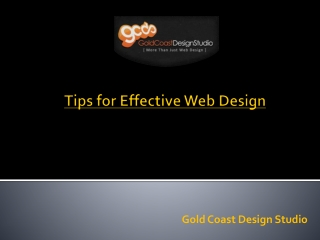 Tips for Effective Web Design