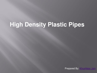 high density plastic pipe