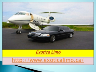 Limousine Services in Toronto | Exotica Limo