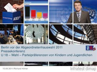 Berlin vor der Abgeordnetenhauswahl 2011 Pressekonferenz U 18   Wahl   Parteipr ferenzen von Kindern und Jugendlichen