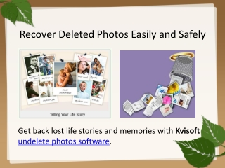 How to Retrieve Lost Photos