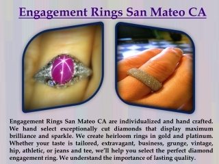 Engagement Rings San Mateo CA