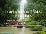 Instrumentos da PNMA. EIA