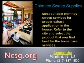 Affordable Chimney Sweep Supplies