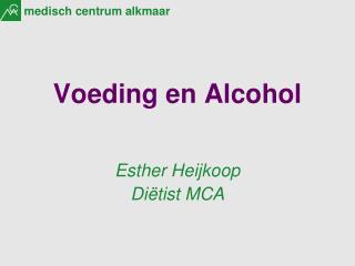 Voeding en Alcohol