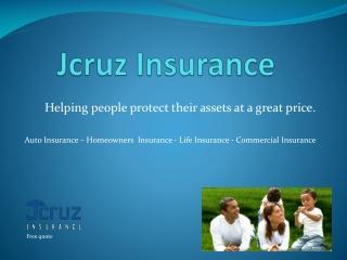 JCruz Insurance, Anaheim CA