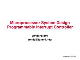 Microprocessor System Design Programmable Interrupt Controller