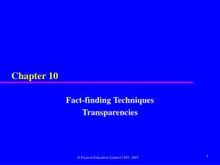 Fact-finding Techniques Transparencies