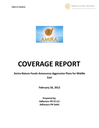 COVERAGE REPORT