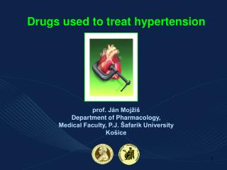 Drugs used to treat hypertension