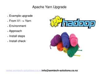 An example Apache Hadoop Yarn upgrade