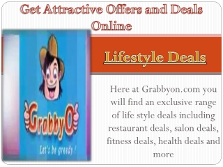 Get Attractive Offers and Deals Online
