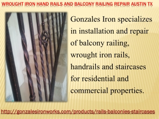 Wrought Iron Hand Rails and Balcony Railing Repair Austin TX