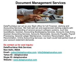 Business Accounting Services India