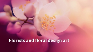 Florists and floral design art
