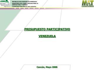 PRESUPUESTO PARTICIPATIVO  VENEZUELA