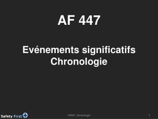 AF447_chronologie