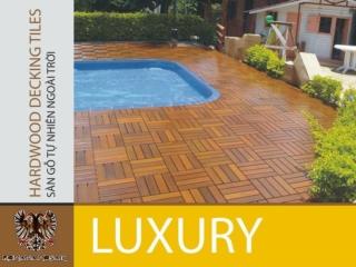 Sàn gỗ ngoài Trời Romana - Công trình chung cư Indochina Hội