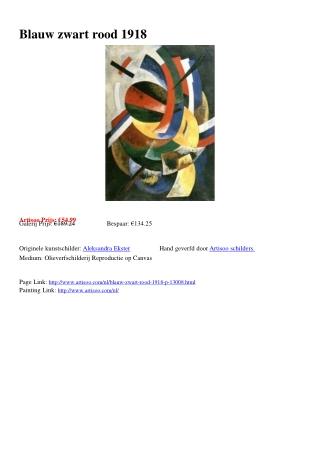 Blauw zwart rood 1918 - Artisoo.com