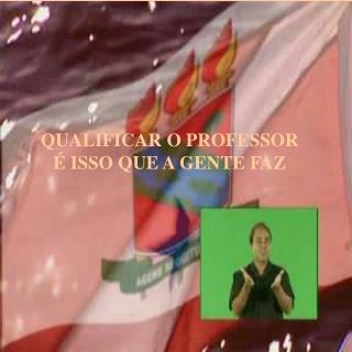 QUALIFICAR O PROFESSOR   ISSO QUE A GENTE FAZ