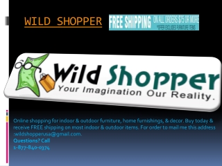 I am wild shopper.Are you?!