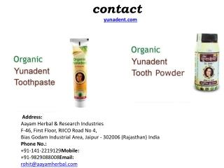 Ayurvedic Toothpaste, Ayurvedic Tooth Powder Manufacturers