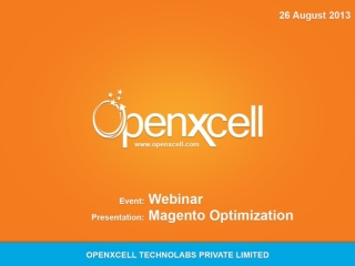 Openxcell conducts a successful webinar on Magento Optimizat