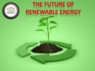 The Future Of Renewable Energy