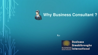 Why Business Consultant