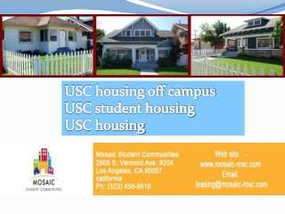 Searching for a good USC housing off campus? Here are a few