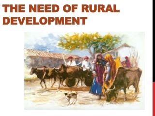 The Need of Rural Development