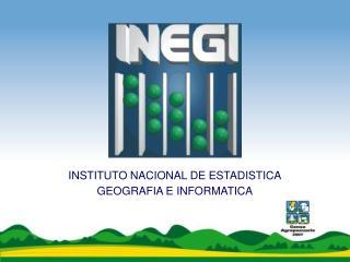 INSTITUTO NACIONAL DE ESTADISTICA GEOGRAFIA E INFORMATICA