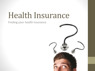 Finding your health insurance