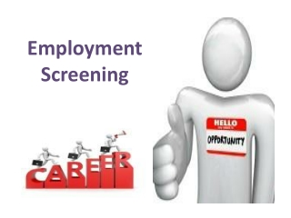 Employment Screening