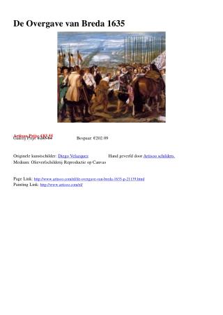 De Overgave van Breda 1635 - Artisoo.com