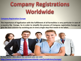 Company Registration Europe