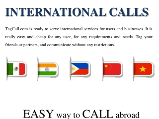 International Cheap Calls | Calls to Mexico, Vietnam, China