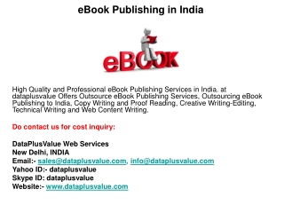 eBook Publishing in India